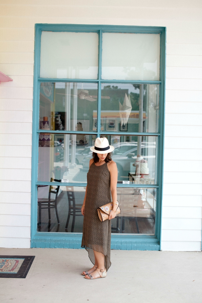 J.Crew hat, Old Navy Maxi Dress, Bloggers Who Budget