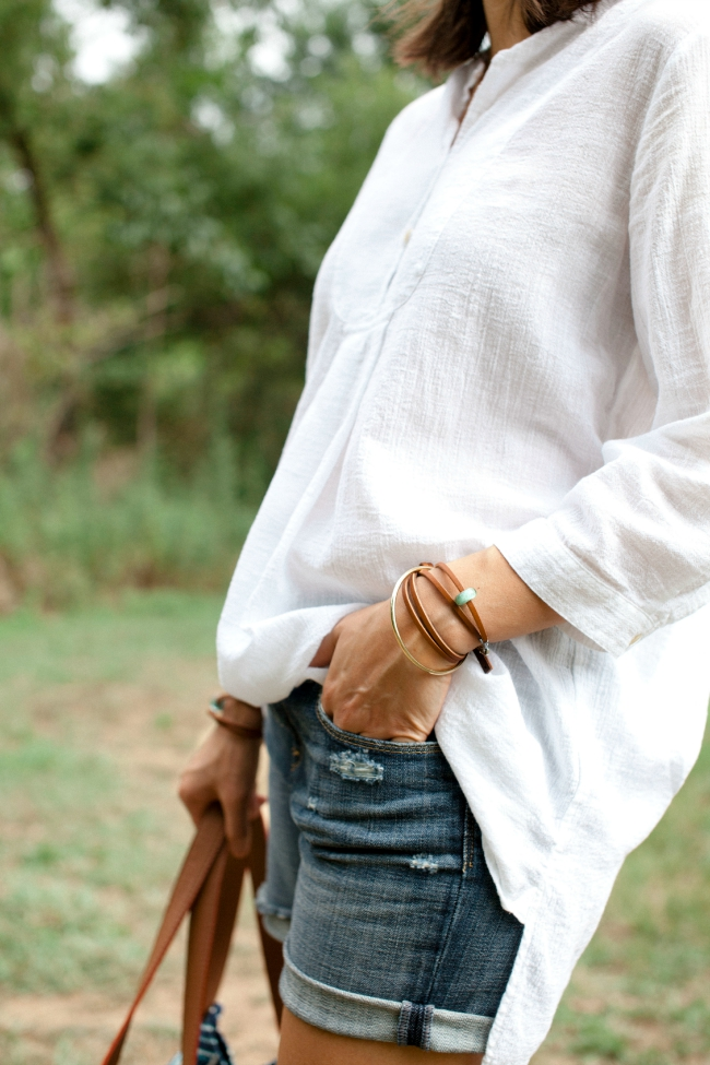 Summer style, white cover-up, Trollbeads