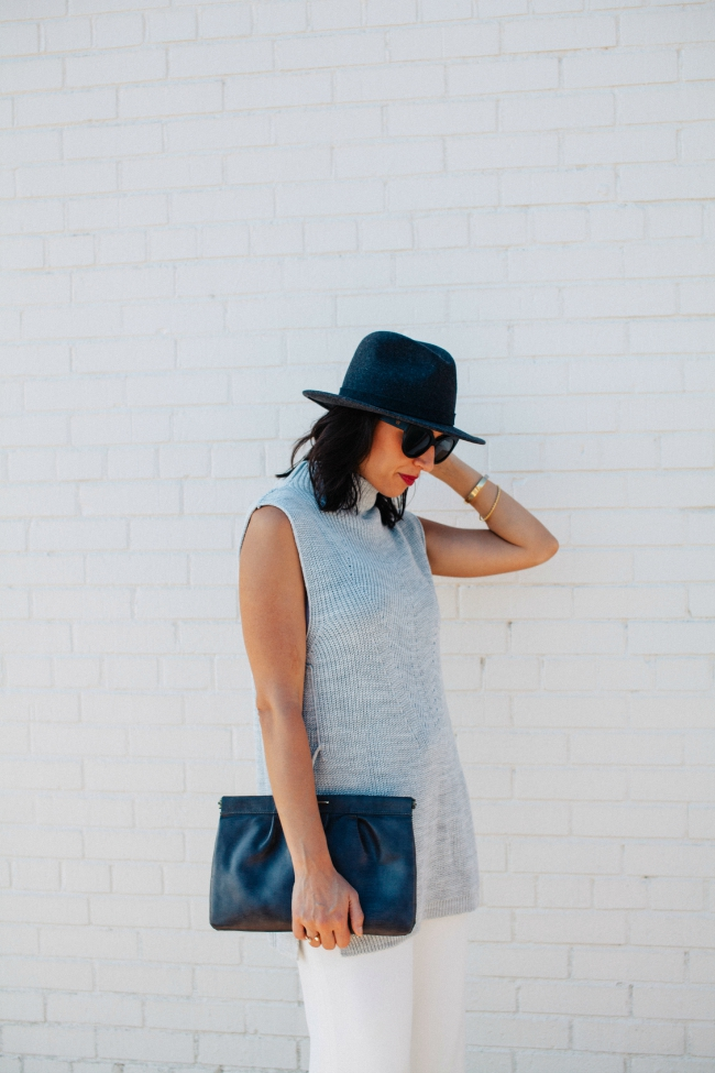 Bloggers Who Budget Fall Trends, Topshop Sweater, J.Crew Hat