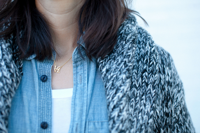 Philadelphia necklace, fall layering