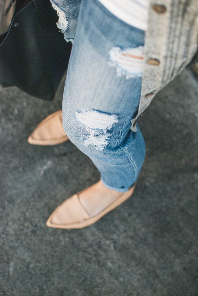 ripped maternity denim