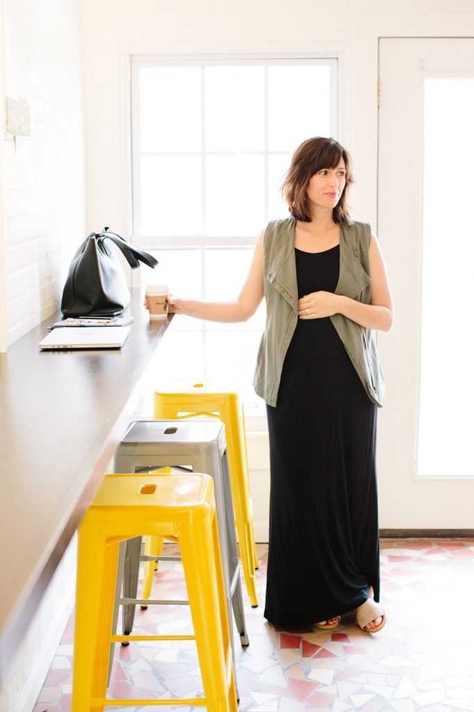 Maternity Style, Black Maxi Dress