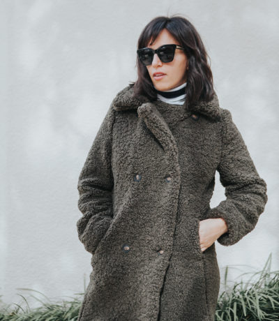 cozy sherpa coat