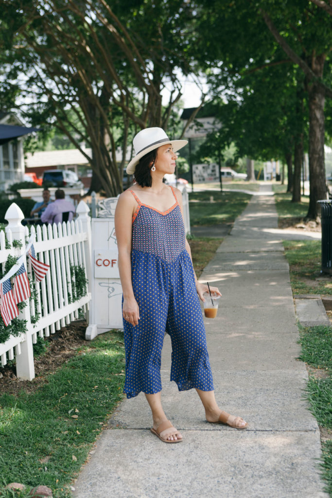 Indigo Row in a jumpsuit