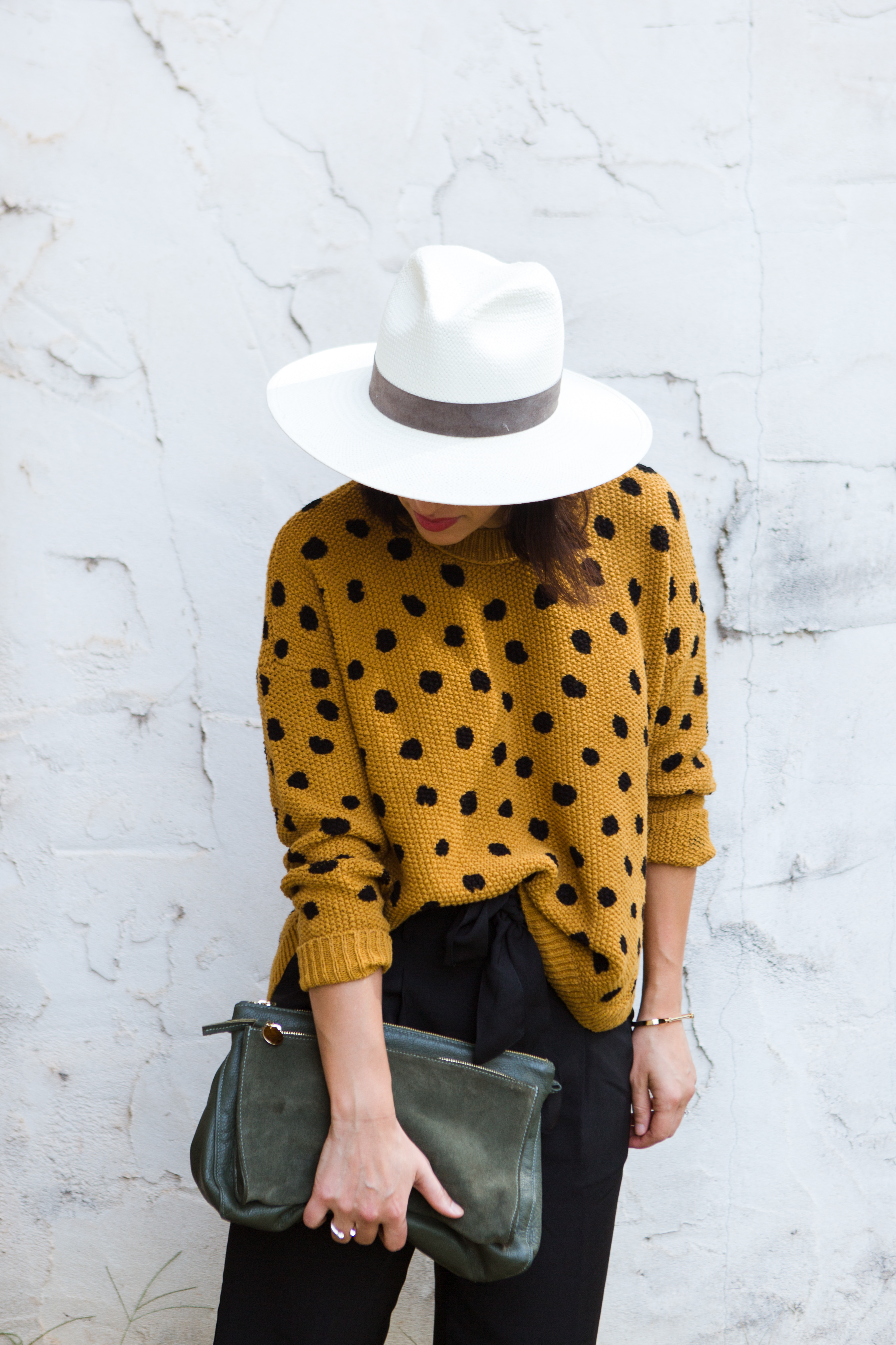 spotted pullover