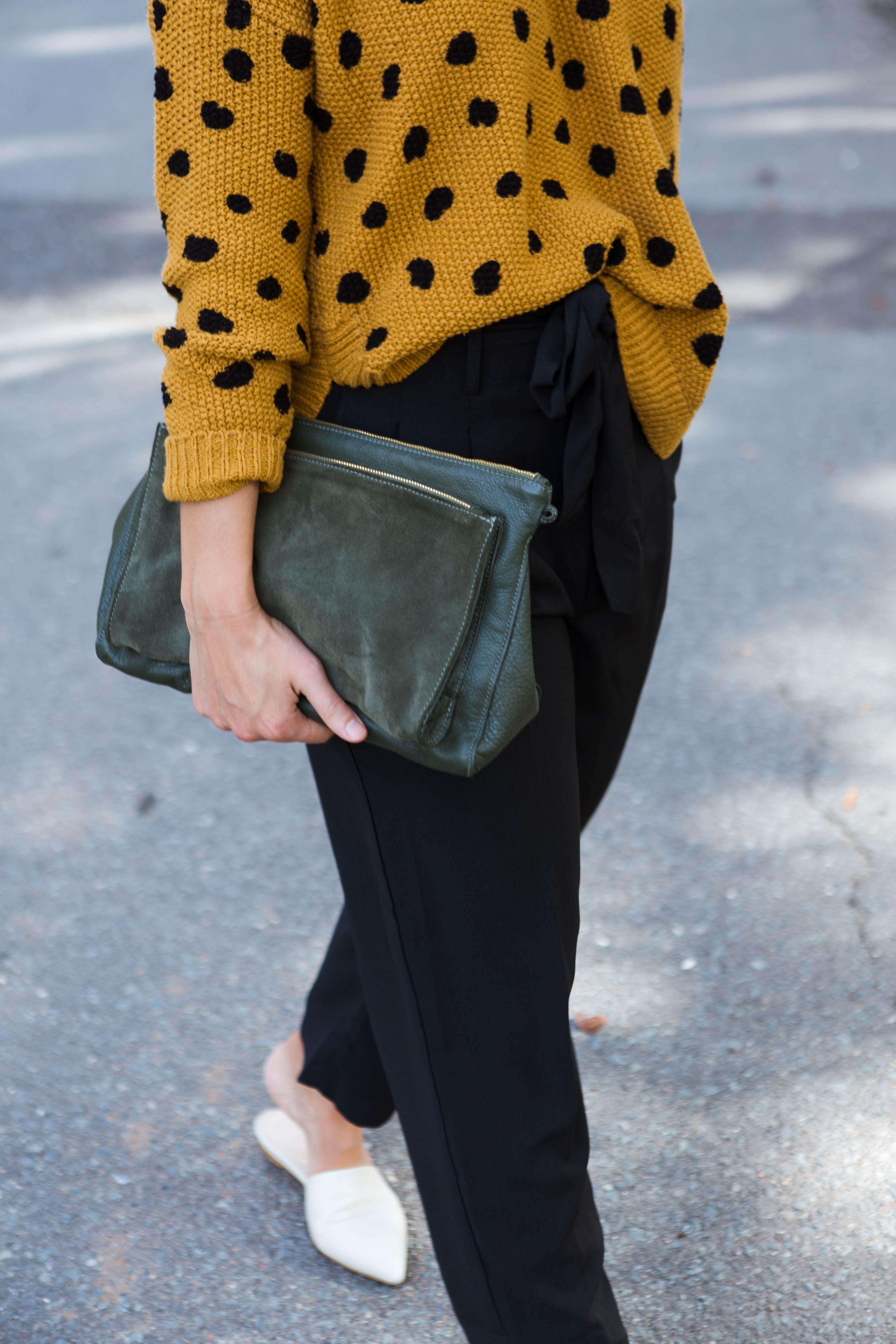 madewell spotted sweater