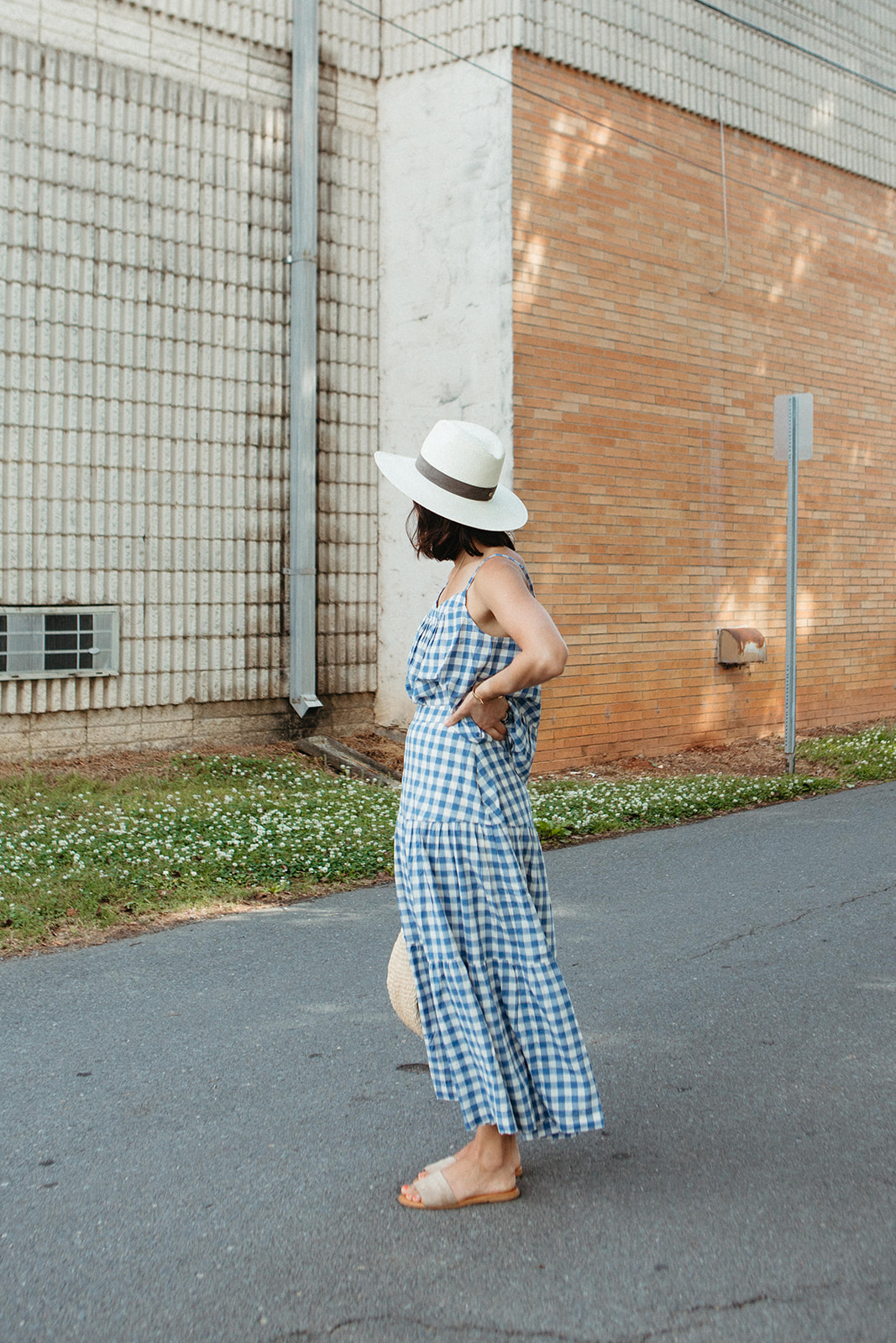 Gingham skirt and top for summer