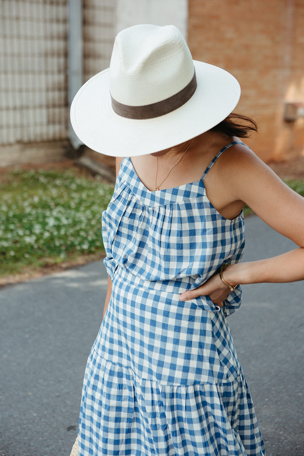 gingham top for summer
